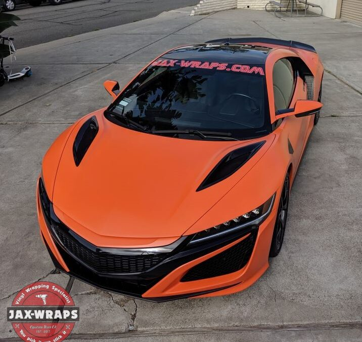 Acura NSX Avery Satin Orange