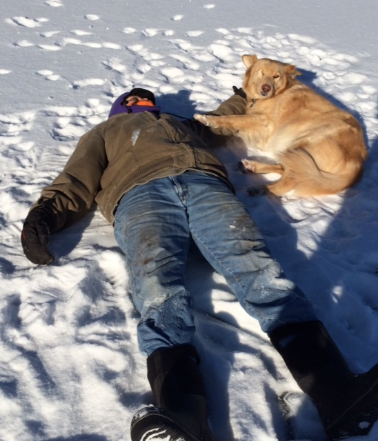 Chris and TuuWeh love the snow