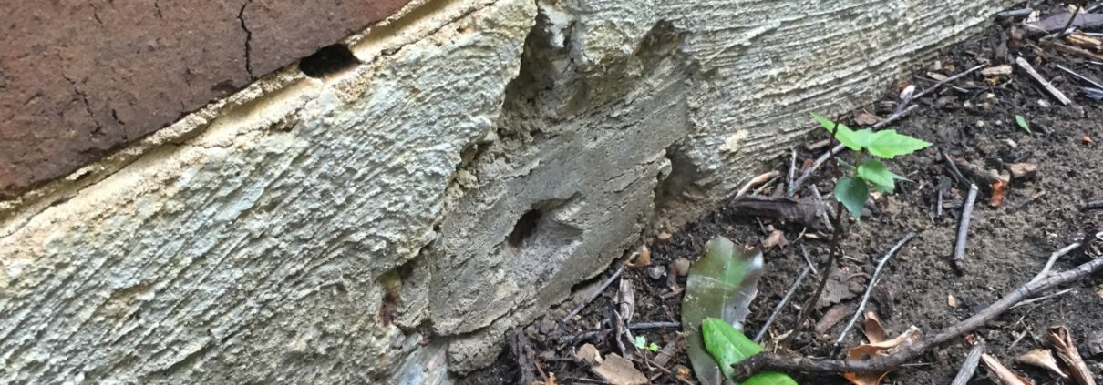 cables sticking out of concrete slab foundation