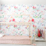 cute accent wall in a little girls room
