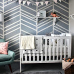 adorable nursery accent wall