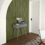 Earthy Greens Make Foyer Pop