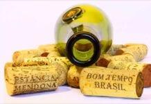 brazilian wine bottle with corks