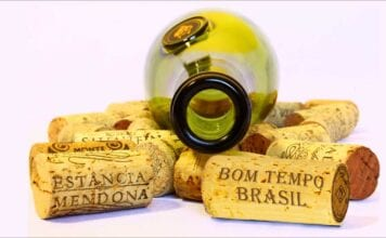 brazilian wine bottle with corks