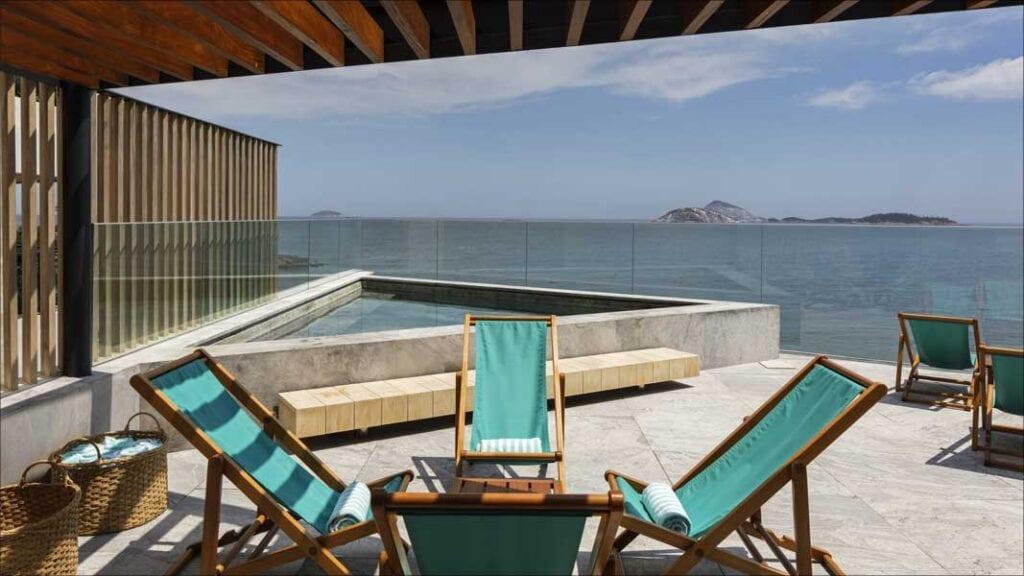 pool view at Hotel Arpoador