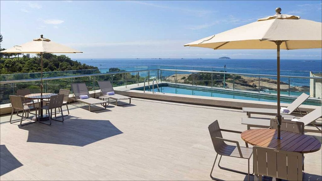 pool view of arena ipanema hotel