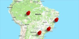 Map of Brazil locating Brazil four epic adventures