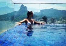 woman in ipanema pool