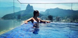 woman in ipanema pool
