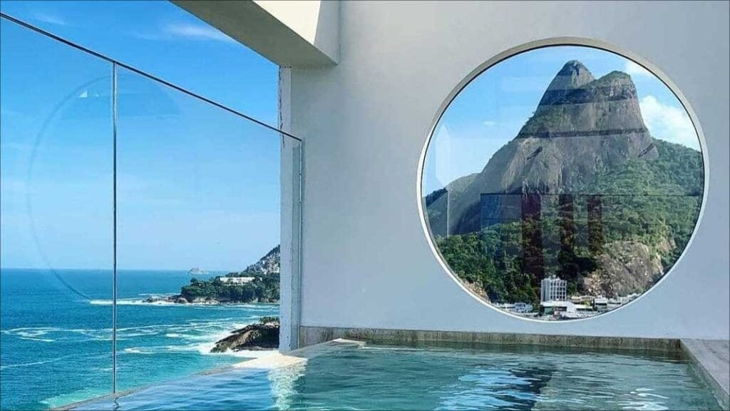 pool view of Janeiro Hotel, Leblon