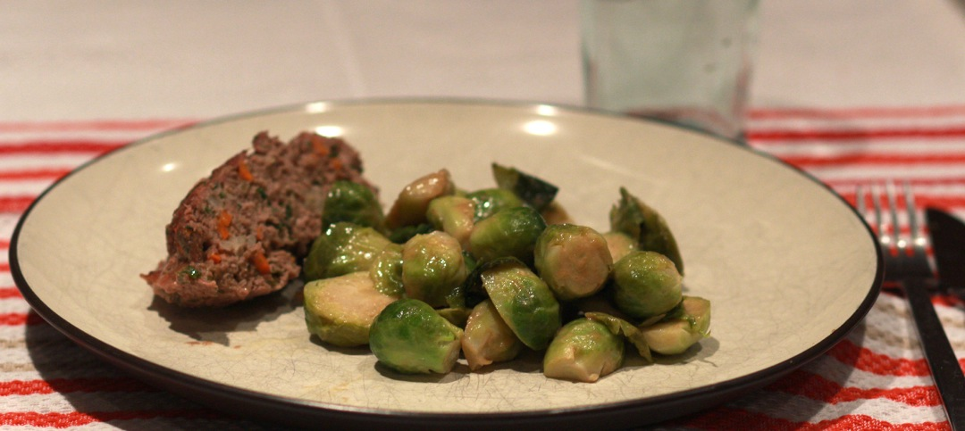 Brussels sprouts of a plate