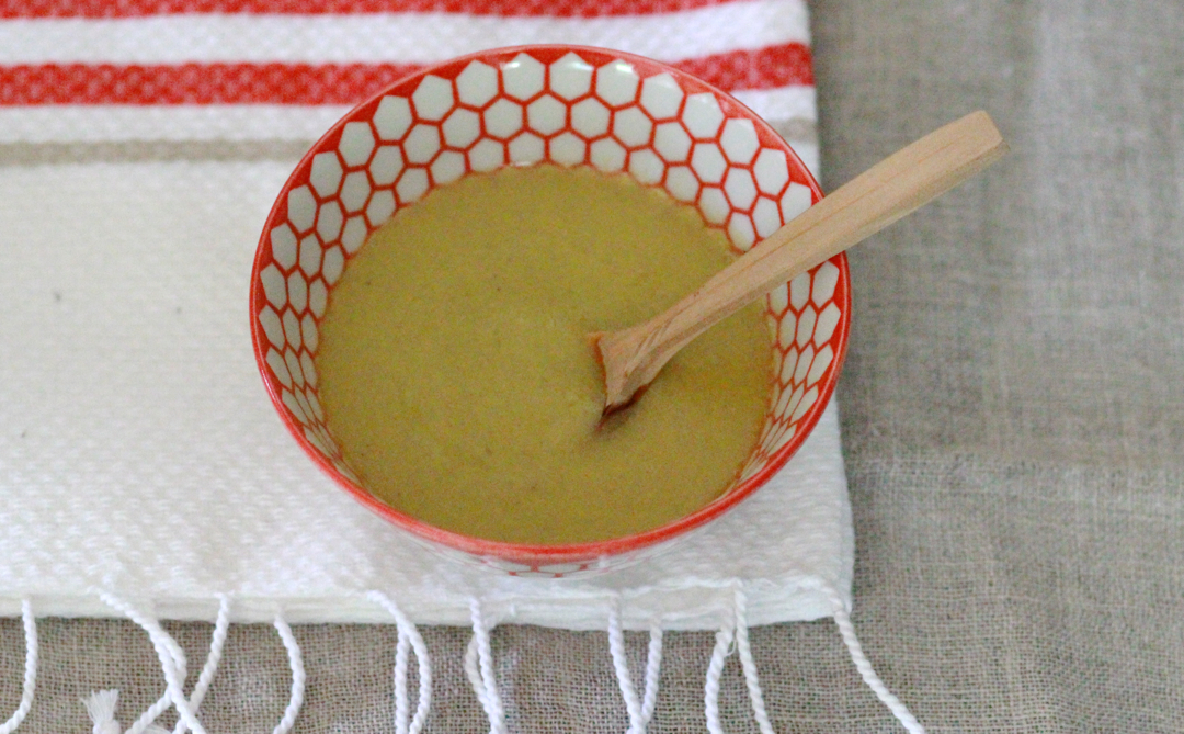 mustard sauce in a bowl