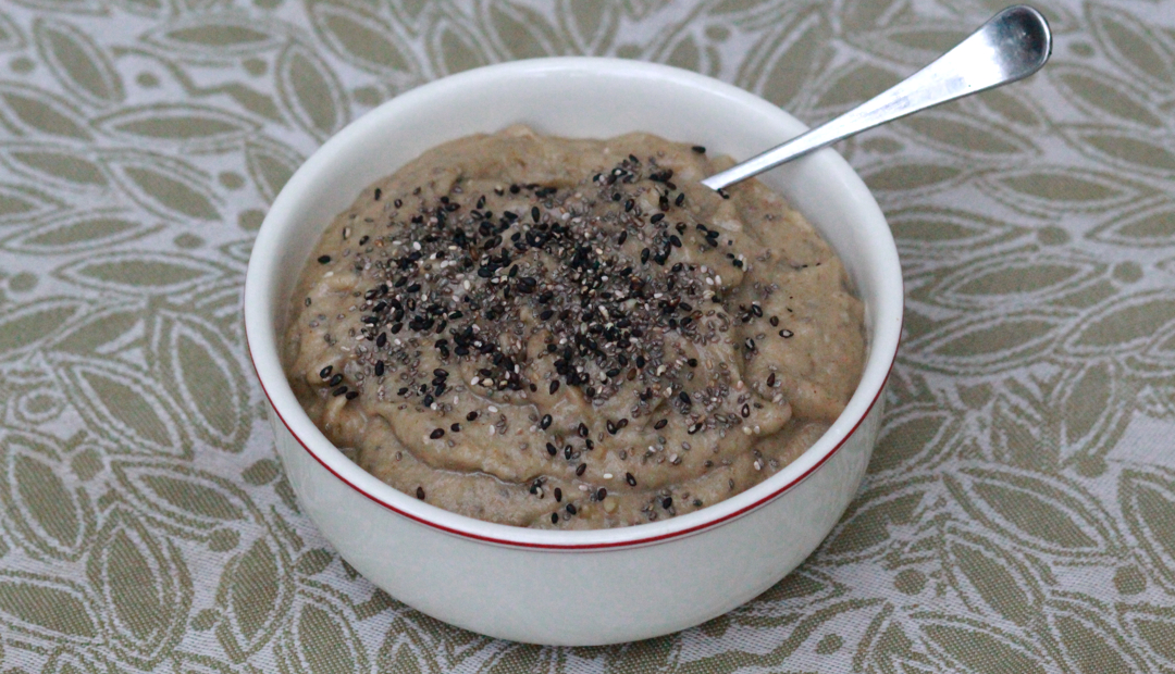 eggplant spread in a bowl