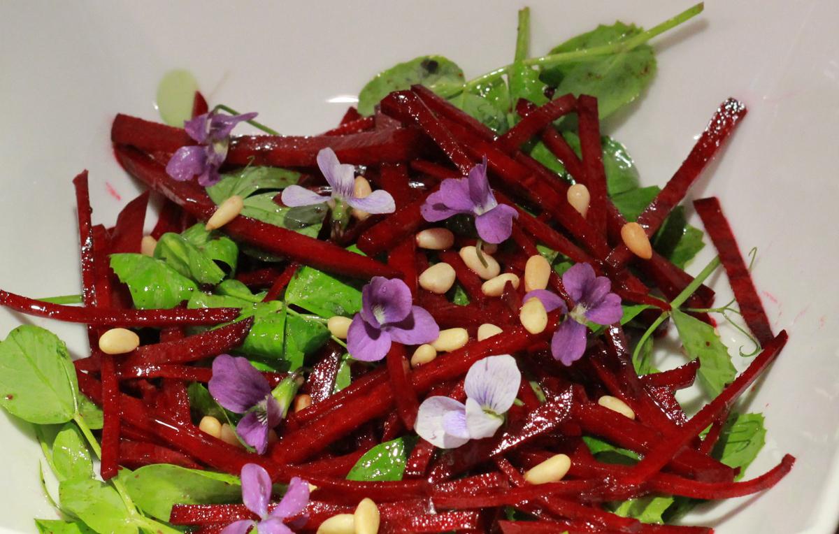 Beet and violets salad