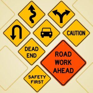 17924485 - road sign set
