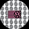 VW Airbag Label Warning Cover Volkswagen Logo VW