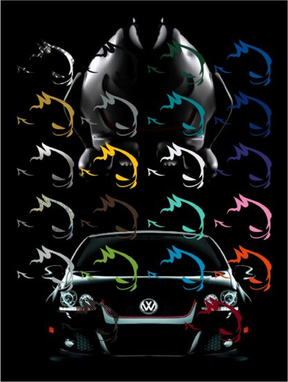 VW My Fast Decal Sticker