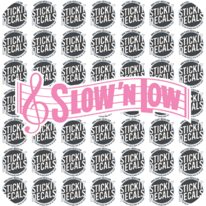 Slow n Low Sweet n low decal sticker