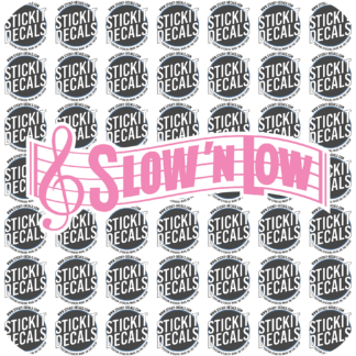 Slow n Low Sweet n low decal sticker