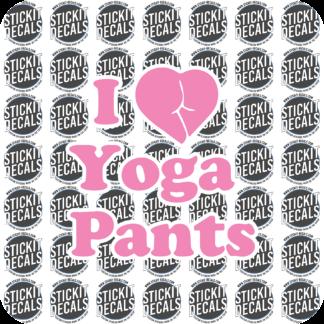 I love yoga pants sticker decal