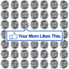 facebook - Your mom likes this decal sticker