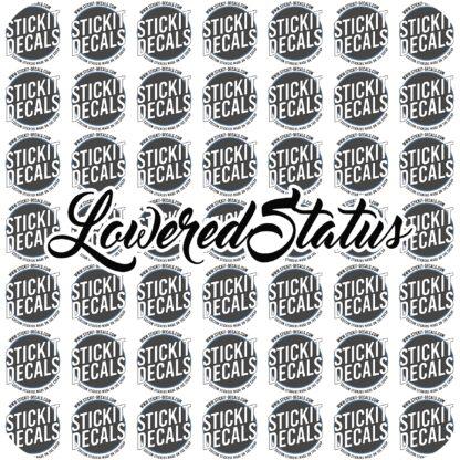 Lowered Status Decal Sticker