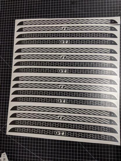 VW MK7 GTI Golf R Third Brake Light decal overlay sticker