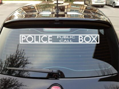 Dr who tardis call box police decal sticker