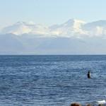 Fisherman at Warrior Point at Pyramid Lake