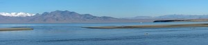 The Truckee River flows into Pyramid Lake on the Pyramid Lake Paiute Reservation.