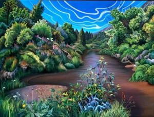 Phillis Shaffer, Truckee Cradle (2007) Oil on Canvas