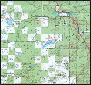 Independence Lake Map