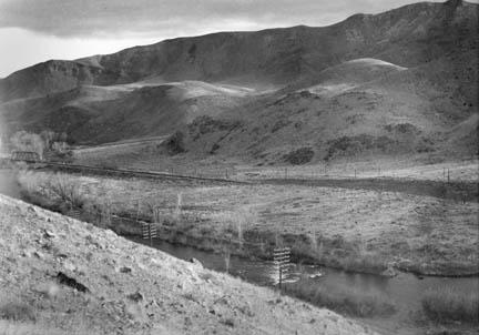 Reef near Vista, as it appeared before the 1960s Corps of Engineers flood-control project; photo taken Jan. 4, 1939 Nevada Historical Society
