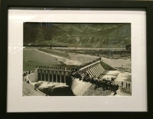 Historical photo of Derby Dam at its dedication in 1905