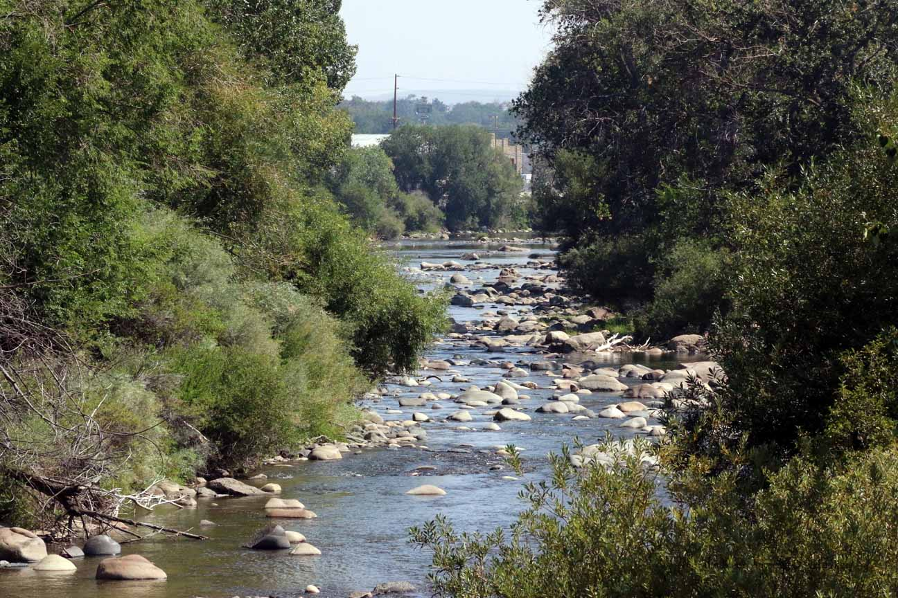 Dry time along the Truckee River walk