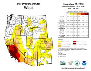 US Drought Monitor Map 2016 11 29