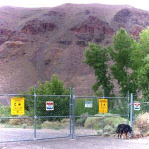 Locked gates at Derby Dam
