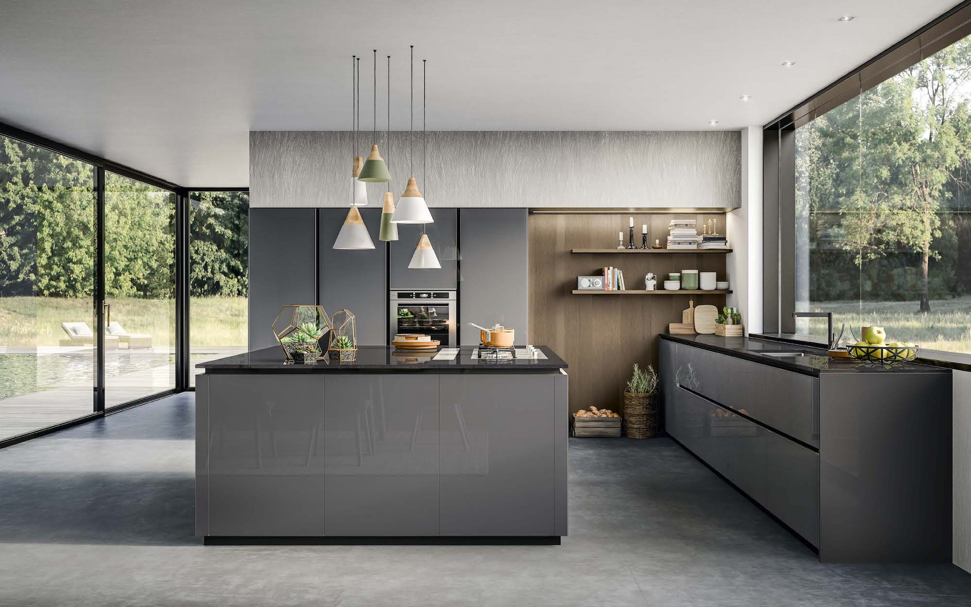 Armony kitchen in high gloss glass