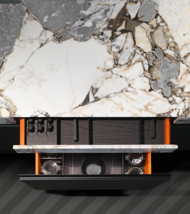 SEI Ocean Storm Marble top and drawer front