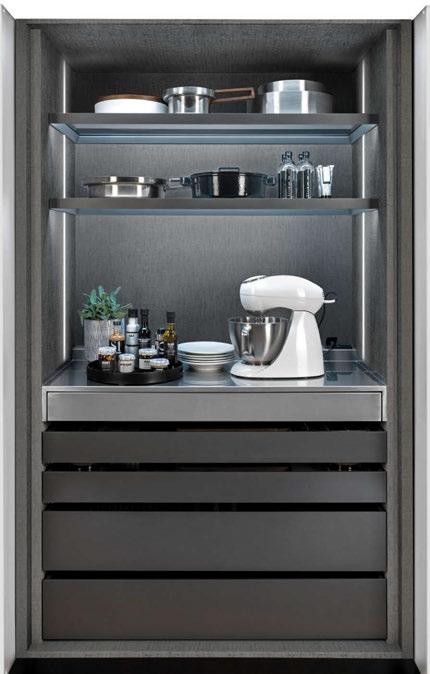 SEI Retracting door Cabinet with Storage drawers