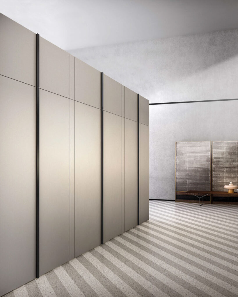 Euromobil SEI gray tall cabinets