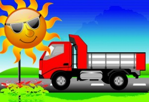 SUN WITH TRUCK