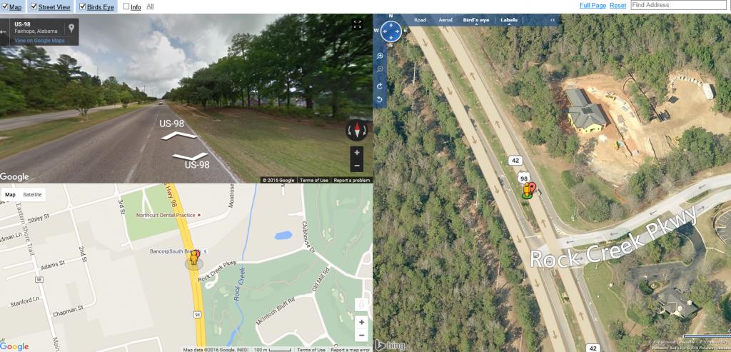 google maps 3 way view
