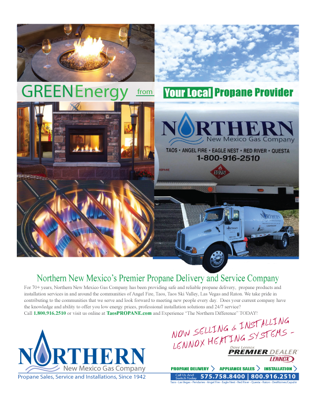 Taos Propane Delivery Advertisement | Green Energy