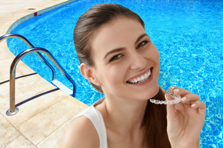Yes, you can swim with your Invisalign aligners