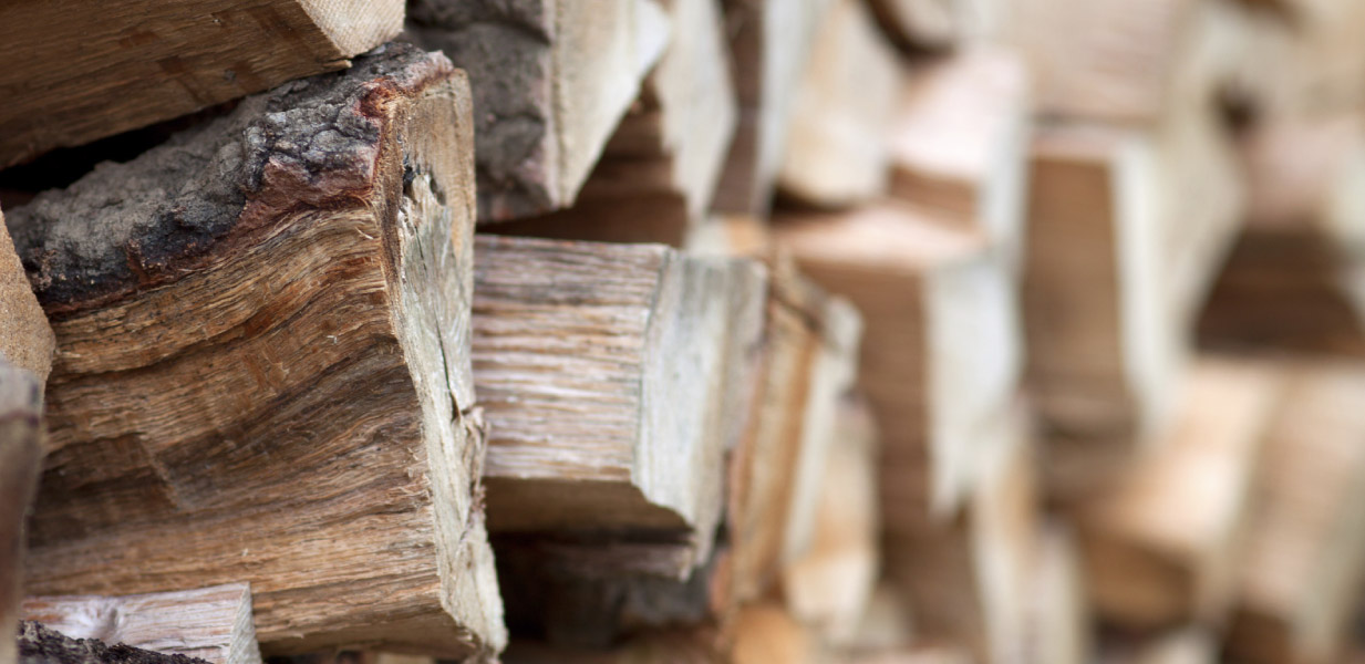 Select well-seasoned wood to get a healthy blaze.