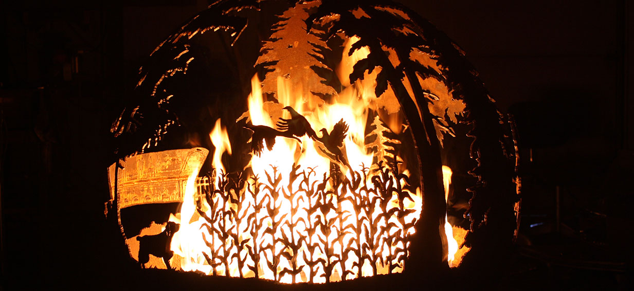 You don't have to worry about cleaning up wood ash with a gas fire pit.