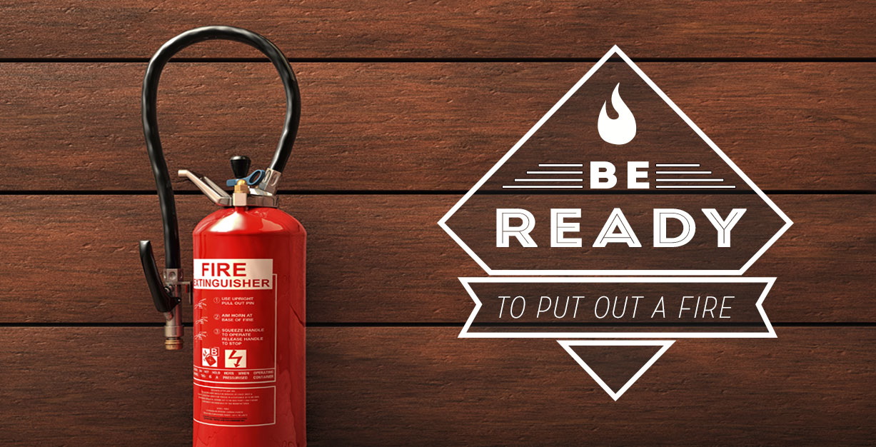 When practicing fire pit safety, be ready to put out a fire.