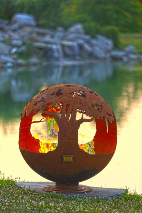 "Tree of Life 37"" Fire Pit Sphere"