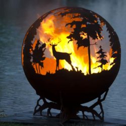 Up North Fire Pit Sphere 37""
